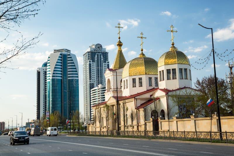 A igreja ortodoxa de Michael o arcanjo Grozny, Chechnya imagens de stock