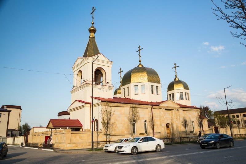 A igreja ortodoxa de Michael o arcanjo Grozny, Chechnya foto de stock