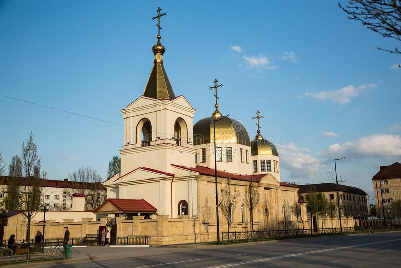 A igreja ortodoxa de Michael o arcanjo Grozny, Chechnya imagem de stock