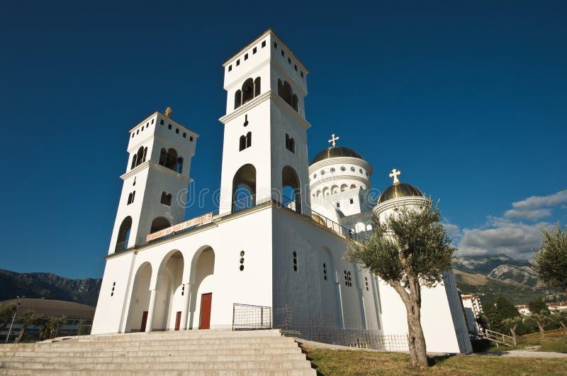 Igreja ortodoxa de Saint Jovan Vladimir na barra, Montenegro imagem de stock royalty free