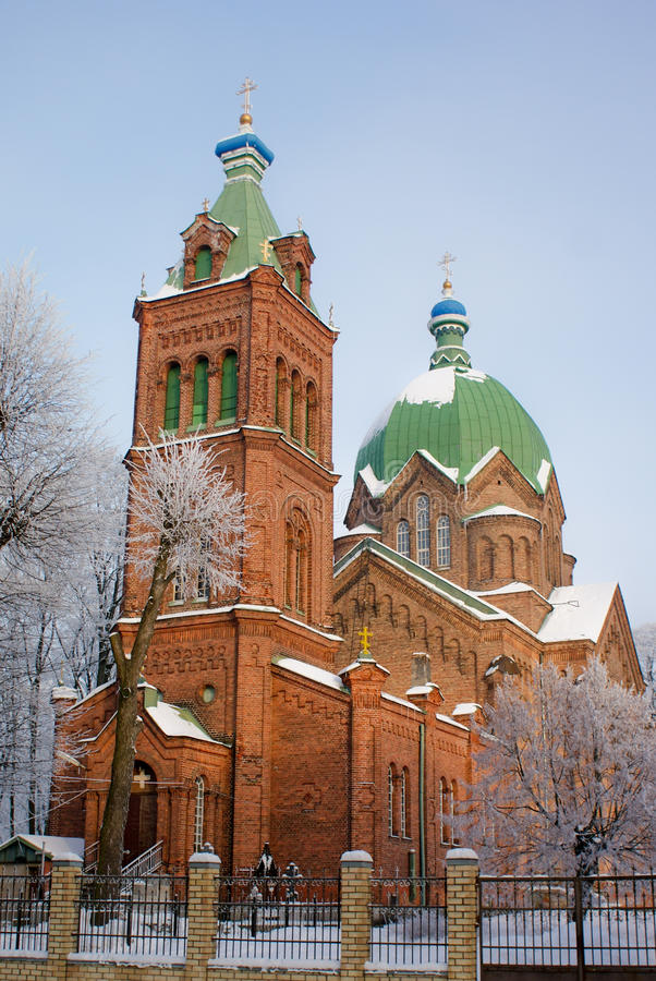 A igreja ortodoxa de todos os Saint em Riga. foto de stock