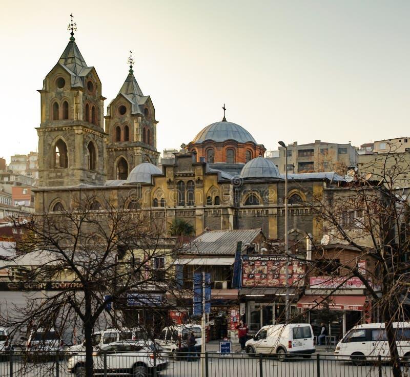 Igreja ortodoxa do grego de Panayia Evangelistria fotos de stock royalty free