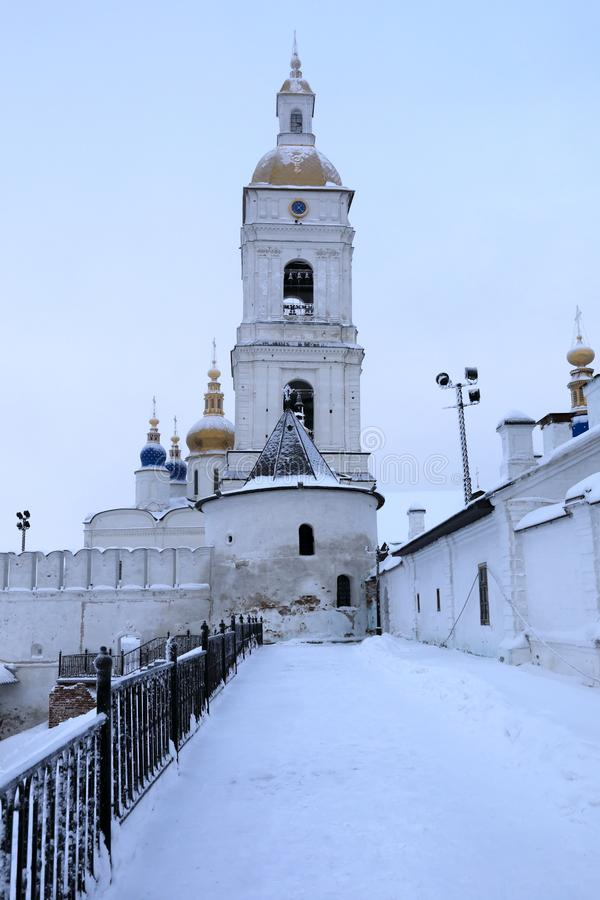 Igreja ortodoxa do Kremlin de Tobolsk imagens de stock royalty free