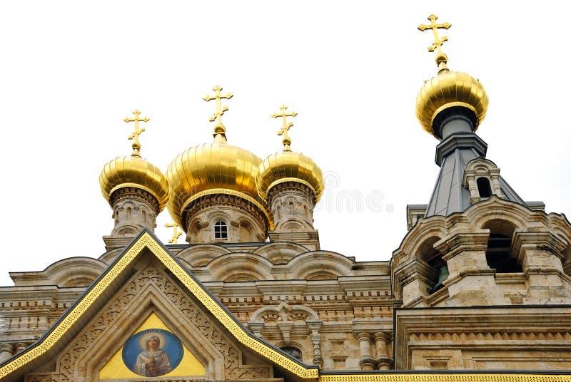 Igreja ortodoxa do russo fotografia de stock
