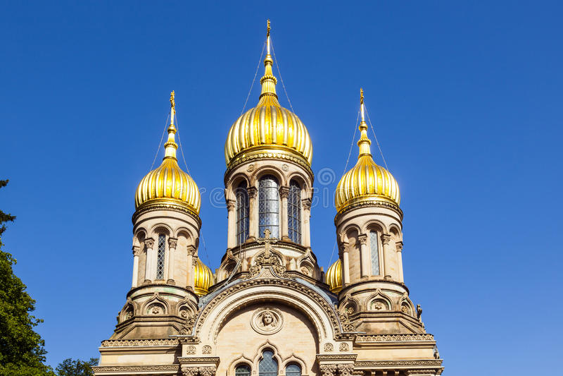 Igreja ortodoxa do russo de Saint Elizabeth em Wiesbaden imagem de stock royalty free