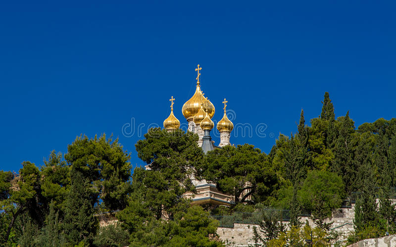 Igreja ortodoxa do russo de St Mary Magdalene imagens de stock