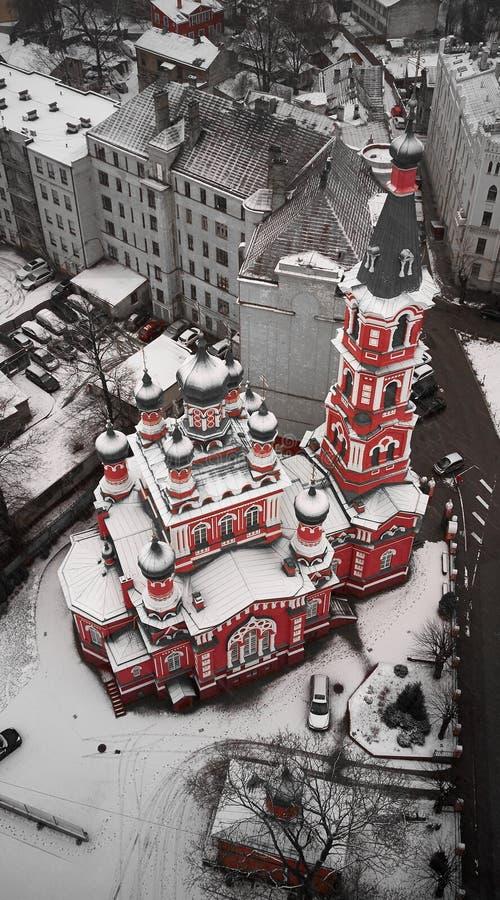 Igreja ortodoxa do russo em Letónia fotografia de stock