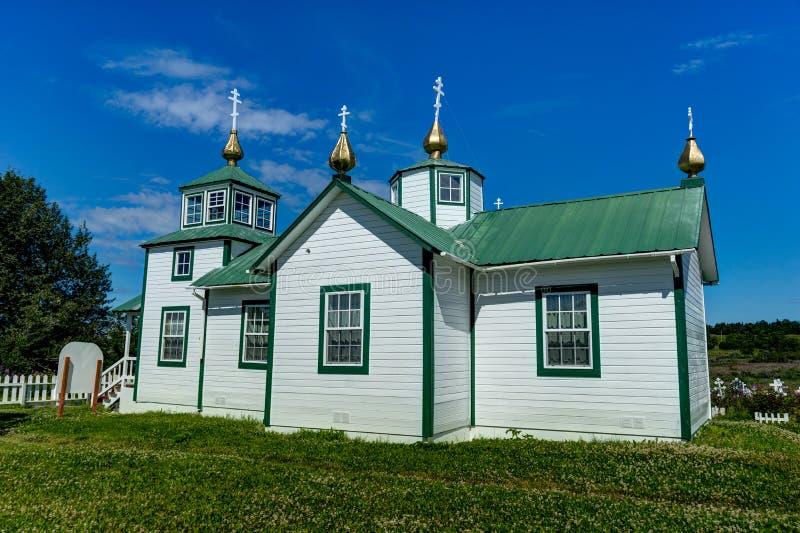 Igreja ortodoxa do russo a transfiguração de nosso senhor, Ninilch imagens de stock royalty free