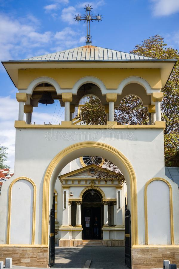 Igreja ortodoxa em Bucareste do centro imagem de stock