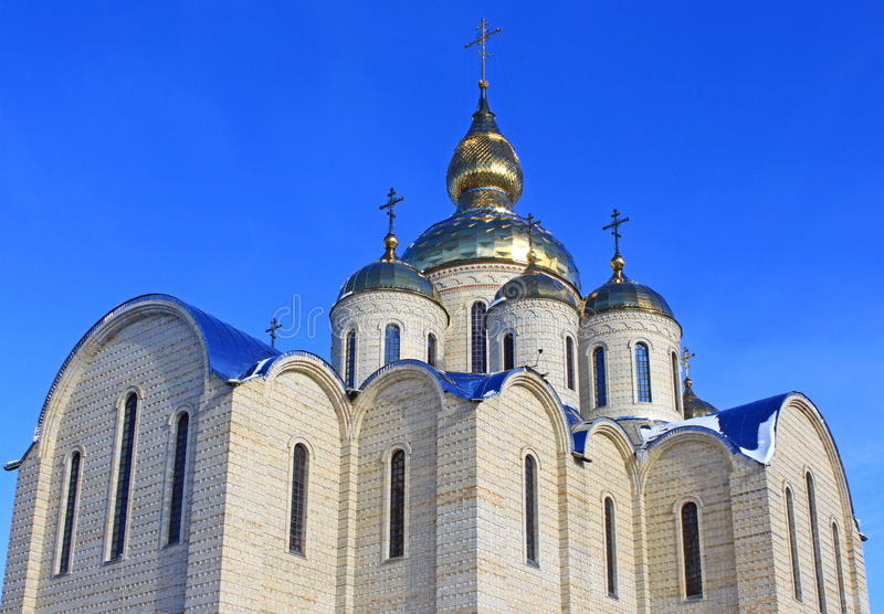 Igreja ortodoxa em Cherkassy, Ucrânia. fotografia de stock royalty free