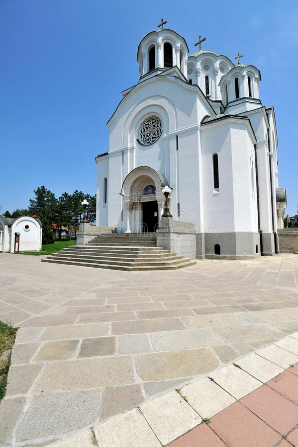 Igreja ortodoxa em Lazarevac, Sérvia fotografia de stock
