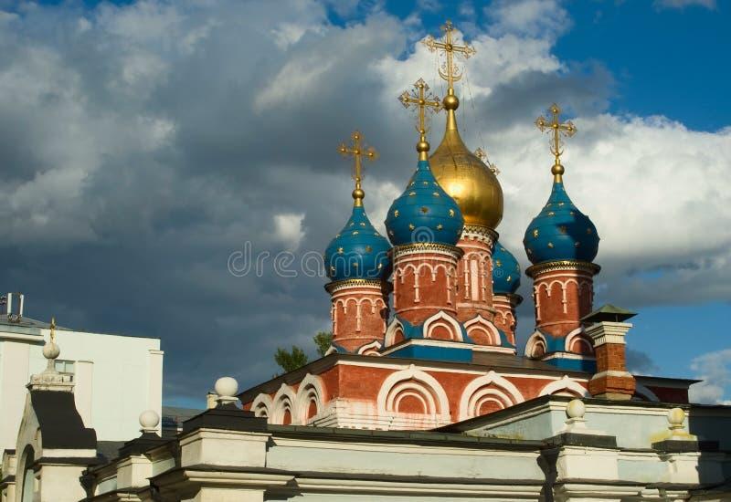 Igreja ortodoxa em Moscovo imagem de stock