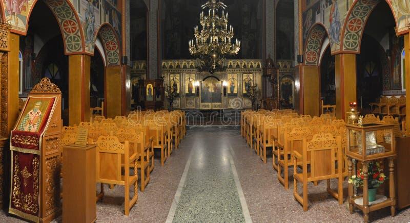 A igreja ortodoxa grega foto de stock royalty free