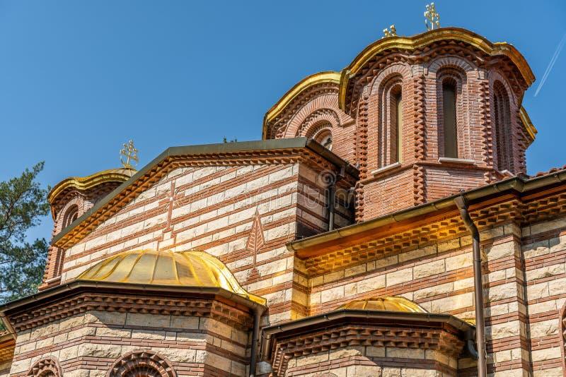 Igreja ortodoxa grega em Grueneburgpark, Francoforte fotografia de stock