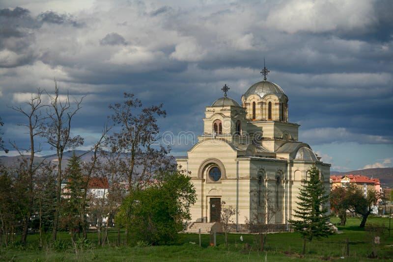 Igreja ortodoxa Kosovo fotografia de stock
