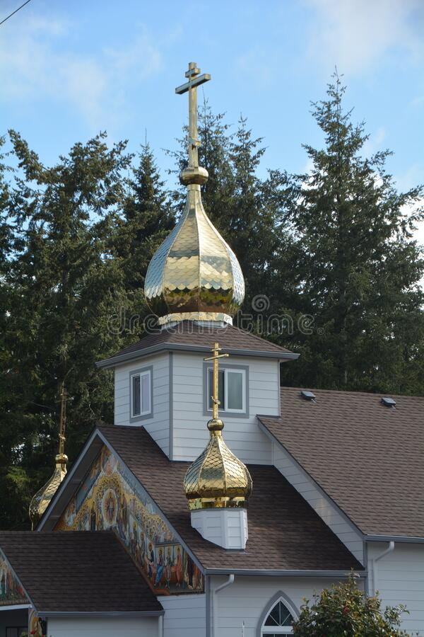 Igreja Ortodoxa Russa, Oregon imagens de stock