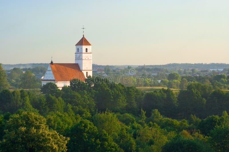 Igreja ortodoxa velha em Bielorrússia (Zaslaue) imagens de stock