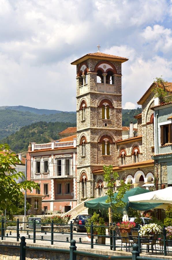 Igreja ortodoxa velha em Greece foto de stock