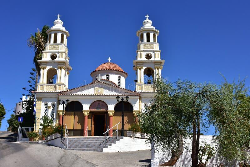 Igreja ortodoxa velha na Creta fotos de stock royalty free