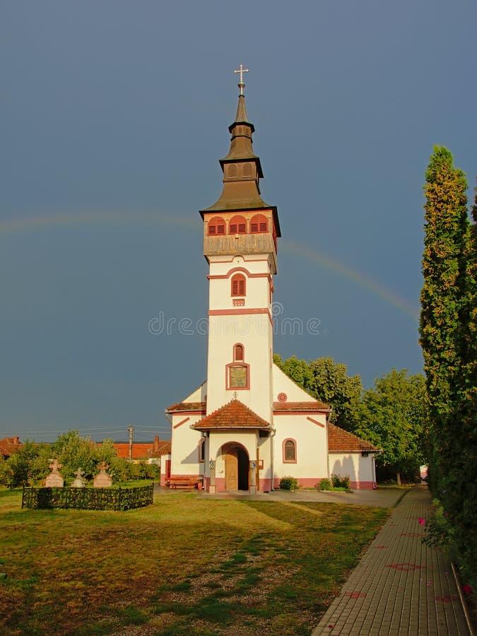 Igreja ortodoxo da suposição em ORastie, Romênia foto de stock royalty free