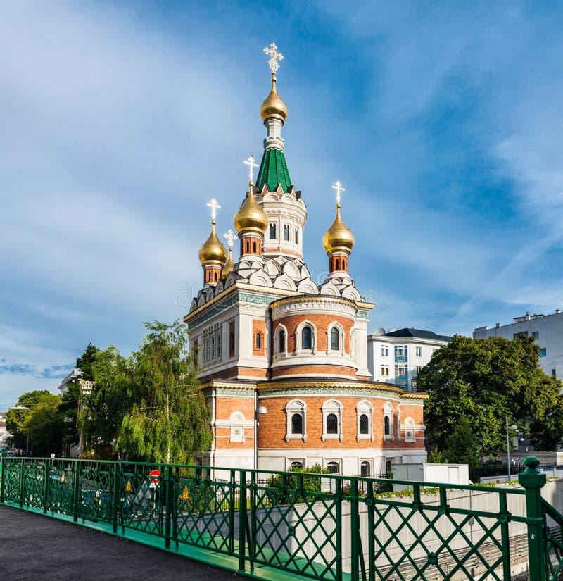 Igreja ortodoxo de São Nicolau do russo em Viena Áustria foto de stock royalty free