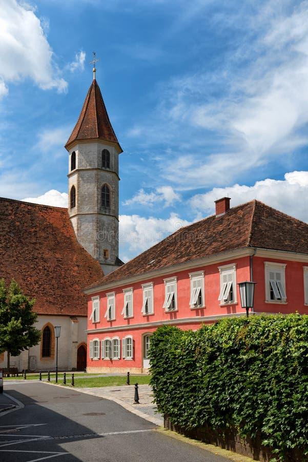 Igreja paroquial de Radkersburg mau, Áustria imagens de stock royalty free