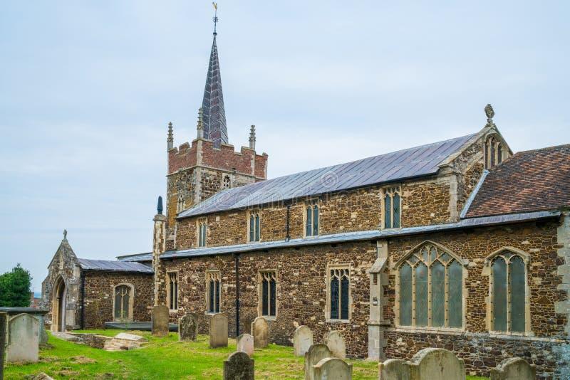 Igreja paroquial de Saint Edmund no mercado de Downham, Norfolk fotos de stock