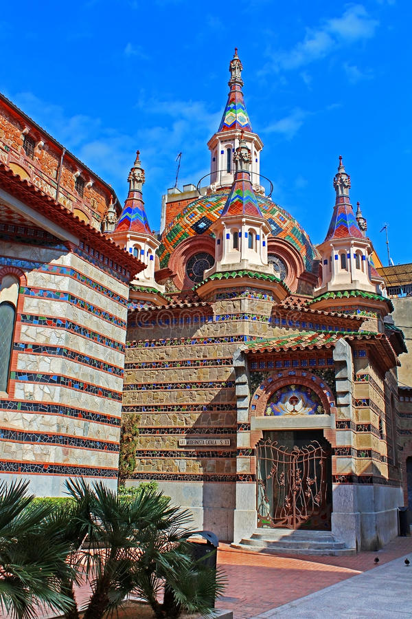 Igreja paroquial de Sant Roma, Espanha fotos de stock