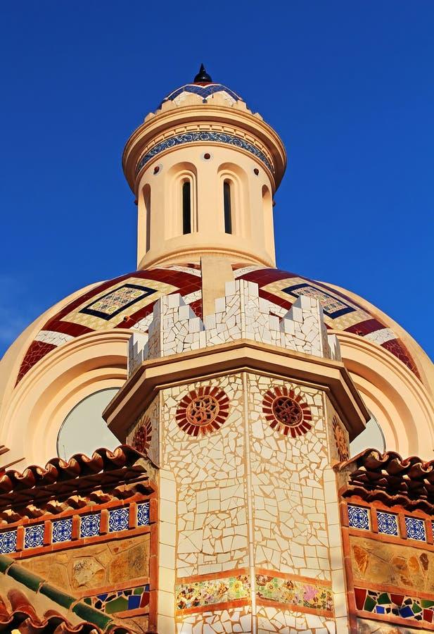 Igreja paroquial de Sant Roma, Lloret de Mar fotografia de stock