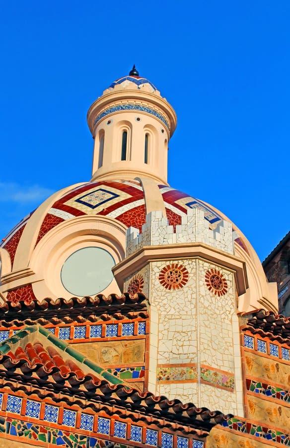 Igreja paroquial de Sant Roma. Lloret de Mar fotos de stock