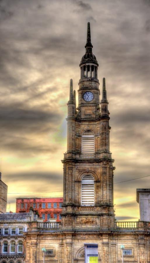 Igreja paroquial de Tron de St George em Glasgow imagens de stock royalty free