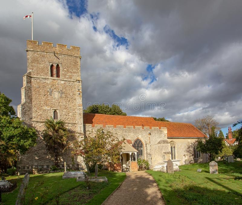 Igreja paroquial do leste de Mersea fotos de stock
