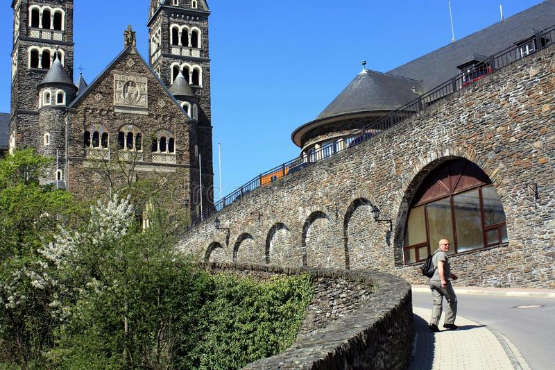 Igreja paroquial em Clervaux imagem de stock