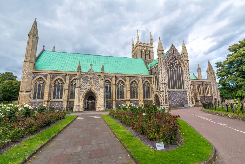 Igreja paroquial inglesa em Great Yarmouth em Inglaterra imagem de stock royalty free