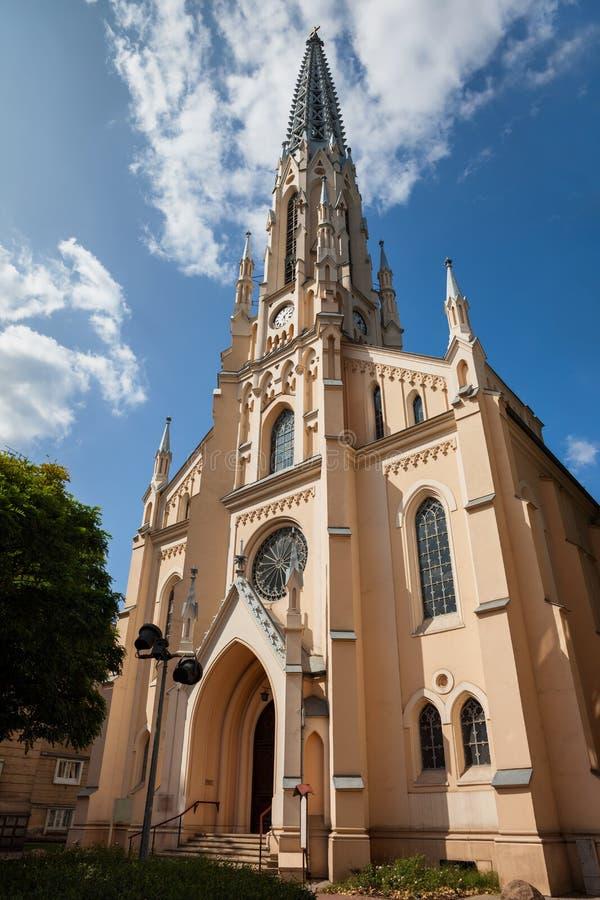 Igreja paroquial reformada Evangelical em Varsóvia imagem de stock royalty free