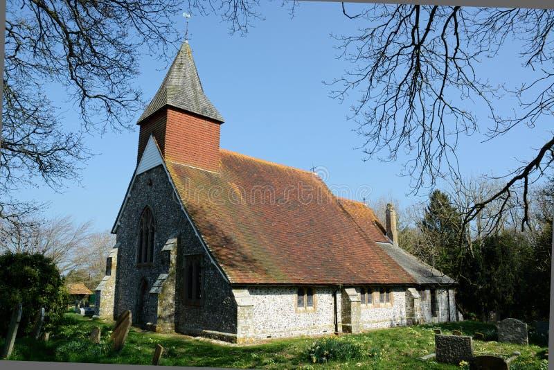 A igreja paroquial, Selmeston, Sussex Reino Unido fotografia de stock royalty free