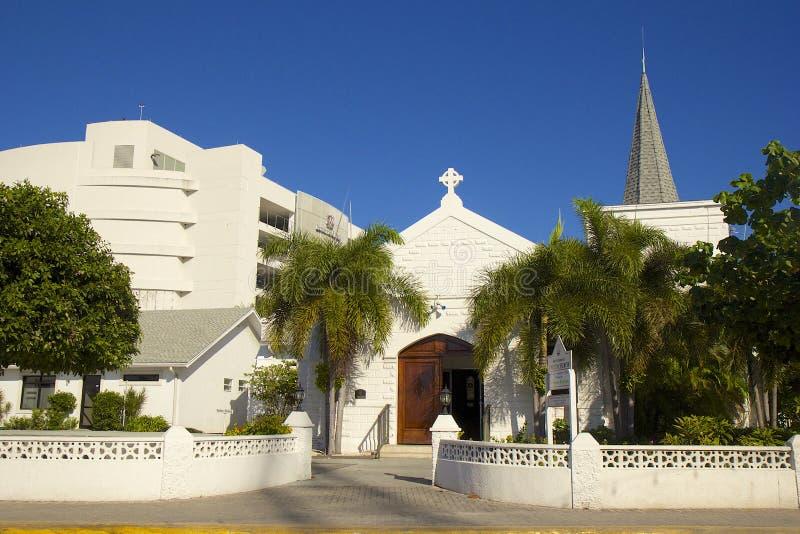 Igreja pequena em Grande Caimão, Cayman Islands, das caraíbas imagens de stock royalty free