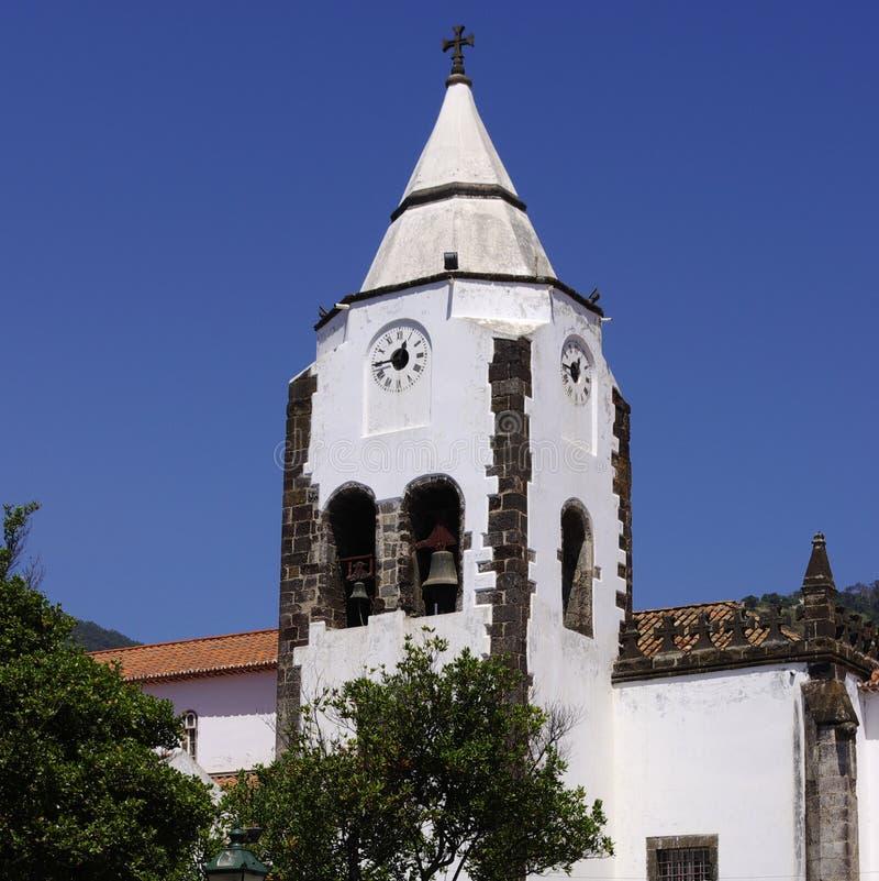 Igreja pequena em Santa Cruz. Madeira foto de stock
