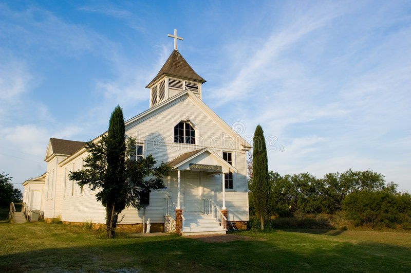 Igreja pioneira americana velha do país imagens de stock royalty free