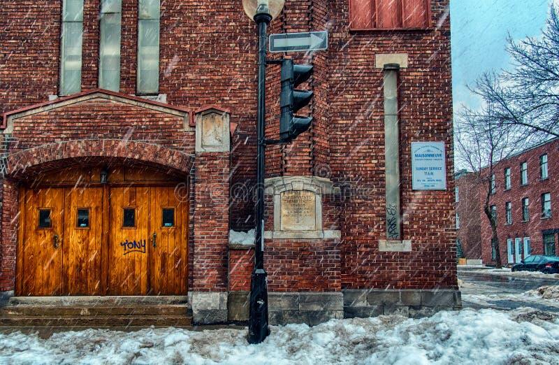 A igreja presbiteriana de Maisonneunve imagem de stock royalty free