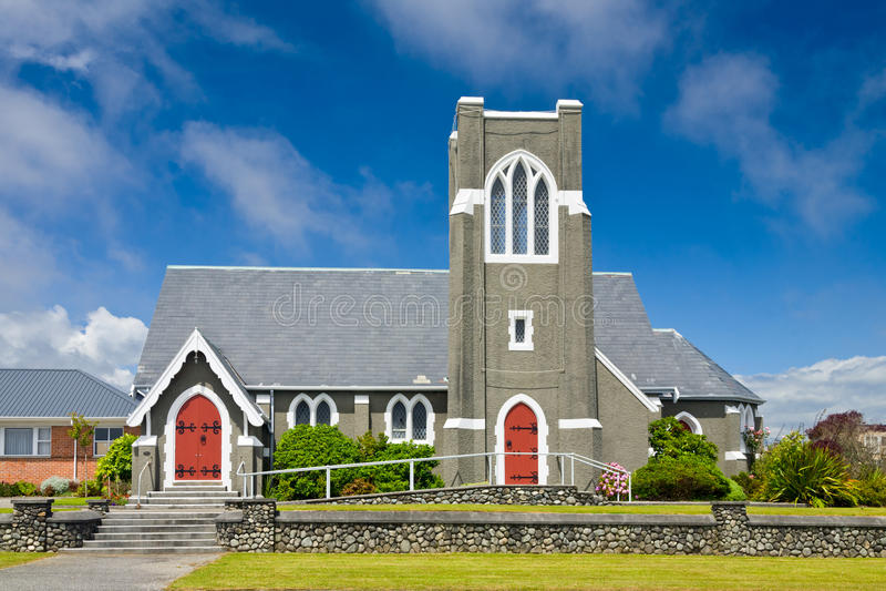 Igreja presbiteriana em Nova Zelândia imagem de stock royalty free