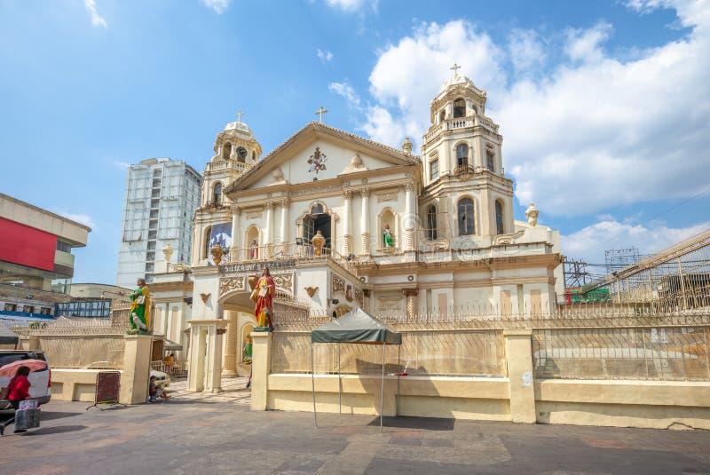 Igreja preta de Quiapo do Nazarene, Manila, Filipinas imagem de stock