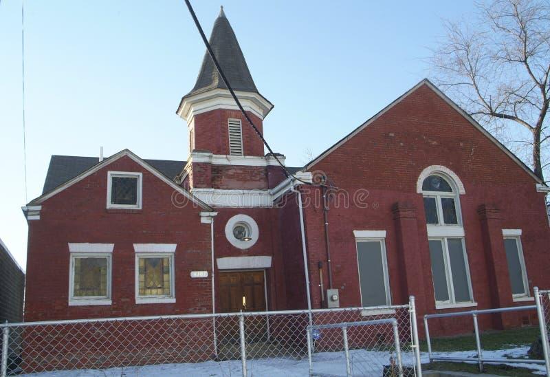 Igreja preta histórica imagens de stock royalty free