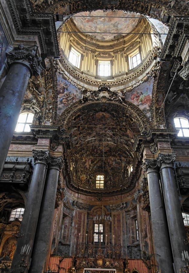 Igreja principal Palermo de San Giuseppe do Nave fotos de stock royalty free