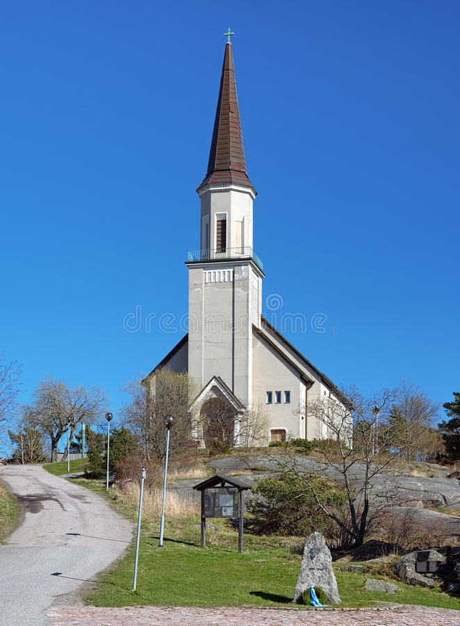 Igreja protestante em Hanko, Finlandia imagem de stock royalty free