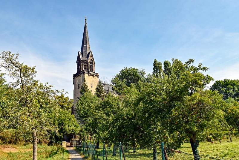 Igreja Radebeul da paz em Saxony/Alemanha fotos de stock royalty free