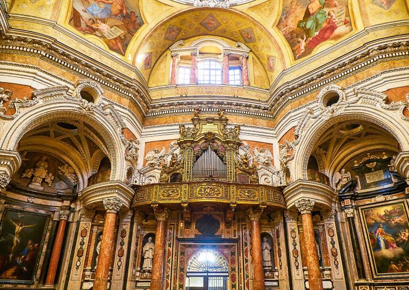 Igreja real de San Lorenzo dos di de Chiesa Turin, Piedmont, Italy fotografia de stock