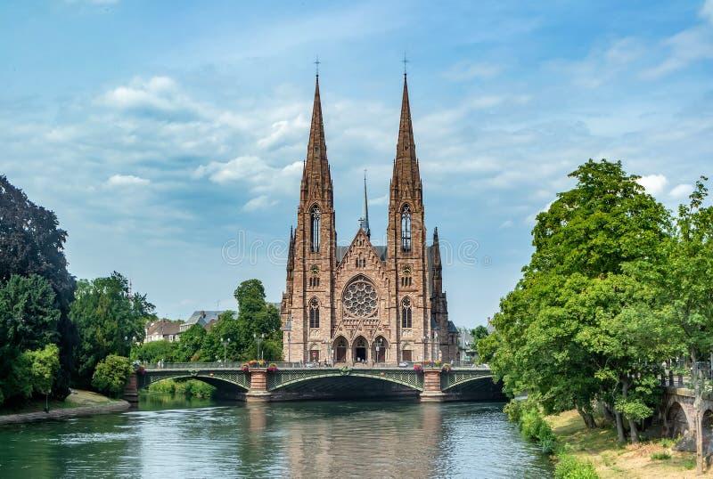 Igreja reformada de St Paul em Strasbourg foto de stock royalty free