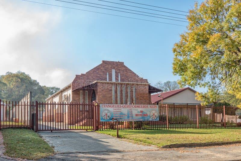 Igreja reformada evangélica em Standerton foto de stock royalty free