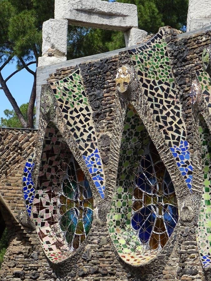 Igreja Revival de Colonia Güell Espanha fotos de stock royalty free
